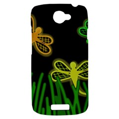 Neon dragonflies HTC One S Hardshell Case