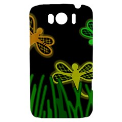 Neon dragonflies HTC Sensation XL Hardshell Case
