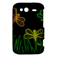 Neon dragonflies HTC Wildfire S A510e Hardshell Case