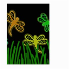 Neon dragonflies Large Garden Flag (Two Sides)