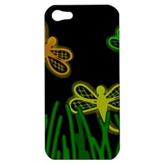 Neon dragonflies Apple iPhone 5 Hardshell Case