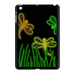 Neon dragonflies Apple iPad Mini Case (Black)