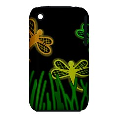 Neon dragonflies Apple iPhone 3G/3GS Hardshell Case (PC+Silicone)