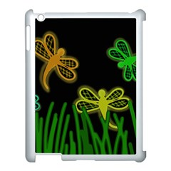 Neon dragonflies Apple iPad 3/4 Case (White)
