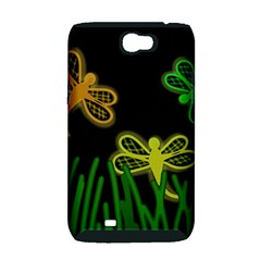 Neon dragonflies Samsung Galaxy Note 2 Hardshell Case (PC+Silicone)