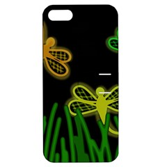 Neon dragonflies Apple iPhone 5 Hardshell Case with Stand