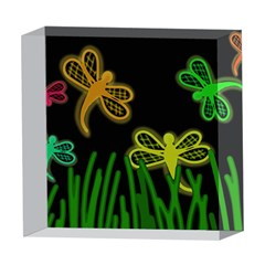 Neon dragonflies 5  x 5  Acrylic Photo Blocks