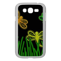 Neon dragonflies Samsung Galaxy Grand DUOS I9082 Case (White)