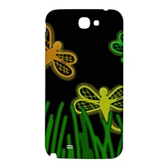 Neon dragonflies Samsung Note 2 N7100 Hardshell Back Case