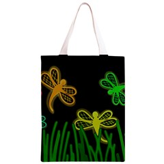 Neon dragonflies Classic Light Tote Bag