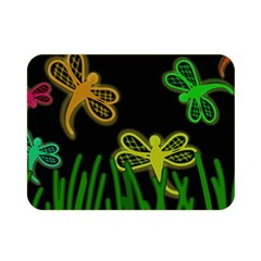 Neon dragonflies Double Sided Flano Blanket (Mini)