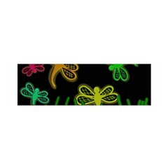Neon dragonflies Satin Scarf (Oblong)