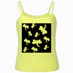 White dragonflies Yellow Spaghetti Tank