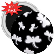 White dragonflies 3  Magnets (100 pack)