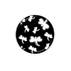 White dragonflies Hat Clip Ball Marker