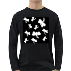 White dragonflies Long Sleeve Dark T-Shirts