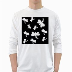 White dragonflies White Long Sleeve T-Shirts