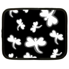 White dragonflies Netbook Case (Large)