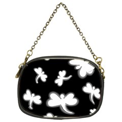 White dragonflies Chain Purses (One Side)