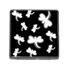 White dragonflies Memory Card Reader (Square)