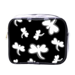 White dragonflies Mini Toiletries Bags