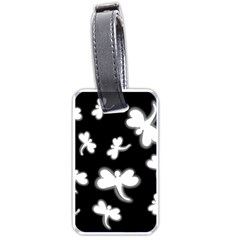 White dragonflies Luggage Tags (One Side)