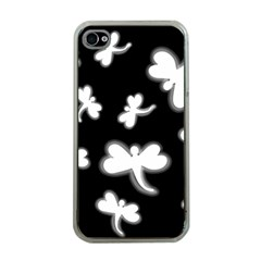 White dragonflies Apple iPhone 4 Case (Clear)