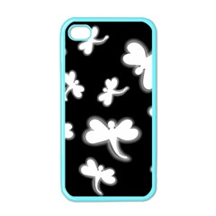 White dragonflies Apple iPhone 4 Case (Color)