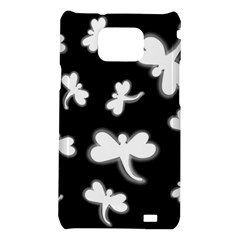 White dragonflies Samsung Galaxy S2 i9100 Hardshell Case