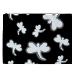 White dragonflies Cosmetic Bag (XXL)