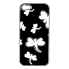 White dragonflies Apple iPhone 5 Case (Silver)