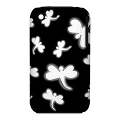 White dragonflies Apple iPhone 3G/3GS Hardshell Case (PC+Silicone)