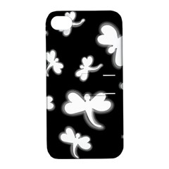 White dragonflies Apple iPhone 4/4S Hardshell Case with Stand