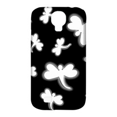 White dragonflies Samsung Galaxy S4 Classic Hardshell Case (PC+Silicone)