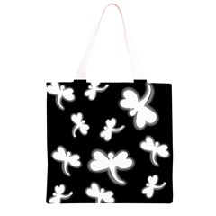White dragonflies Grocery Light Tote Bag