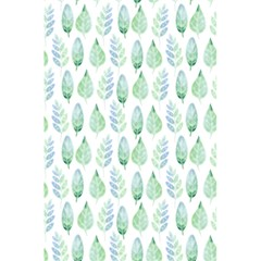 Green Watercolour Leaves Pattern 5 5  X 8 5  Notebooks