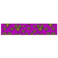 Love In Colors And Heart In Rainbows Flano Scarf (small)