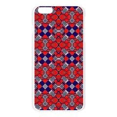 Geometric Pattern Red And Gray, Blue Apple Seamless iPhone 6 Plus/6S Plus Case (Transparent)