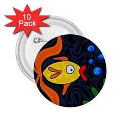 Yellow fish 2.25  Buttons (10 pack)