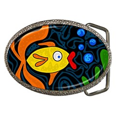 Yellow fish Belt Buckles
