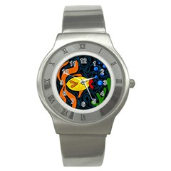 Yellow fish Stainless Steel Watch