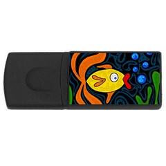 Yellow fish USB Flash Drive Rectangular (4 GB)