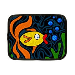 Yellow fish Netbook Case (Small)