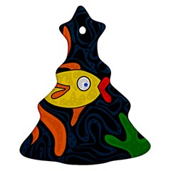 Yellow fish Christmas Tree Ornament (2 Sides)