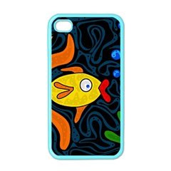 Yellow fish Apple iPhone 4 Case (Color)