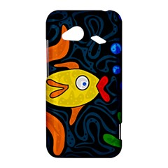 Yellow fish HTC Droid Incredible 4G LTE Hardshell Case