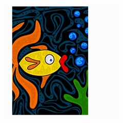 Yellow fish Large Garden Flag (Two Sides)