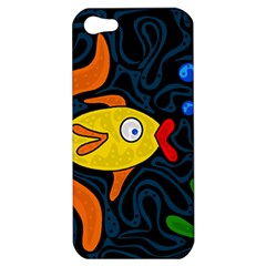 Yellow fish Apple iPhone 5 Hardshell Case