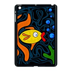 Yellow fish Apple iPad Mini Case (Black)