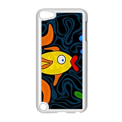 Yellow fish Apple iPod Touch 5 Case (White)